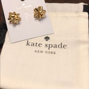 Kate Spade Bourgeois Bow Gold Earrings